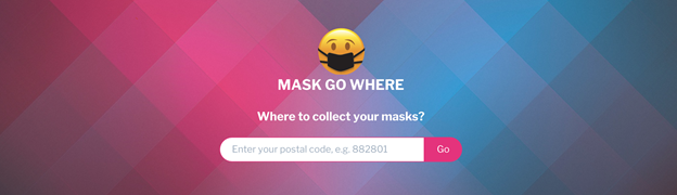 A screenshot of the Maskgowhere page