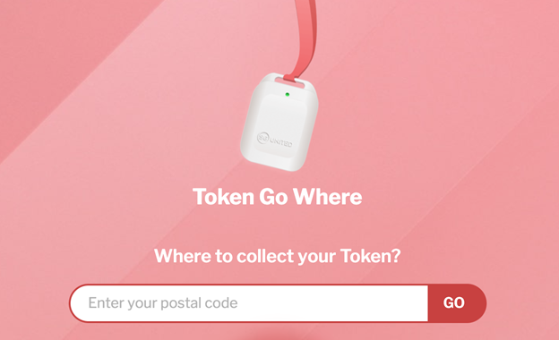A screenshot of the Tokengowhere page