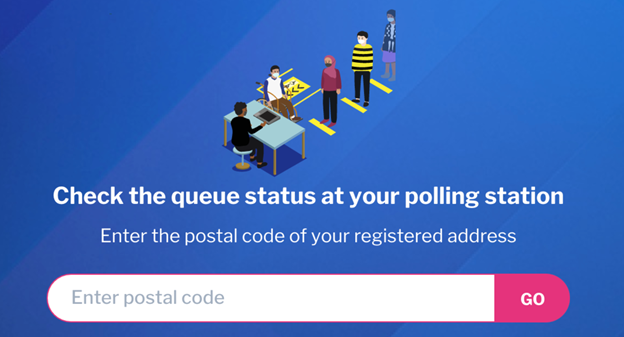 A screenshot of VoteQgowhere page